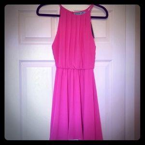 NWT bright pink halter dress